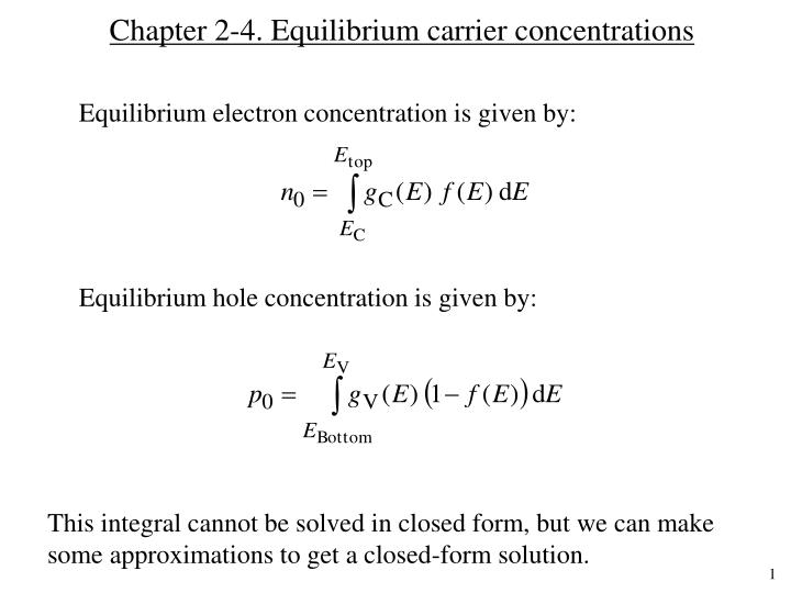 chapter 2 4 equilibrium carrier concentrations n.