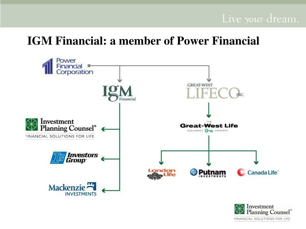 IGM Financial: a member of Power Financial