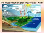 the most important greenhouse gas water
