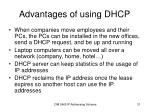 advantages of using dhcp