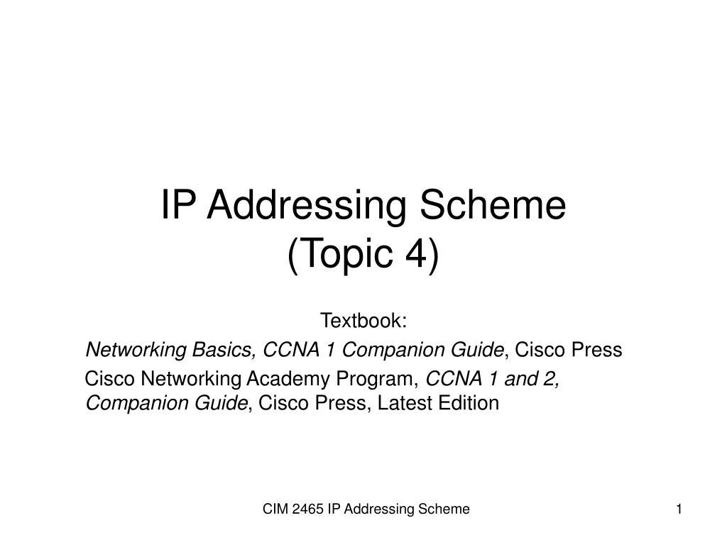 ip addressing scheme topic 4 l.