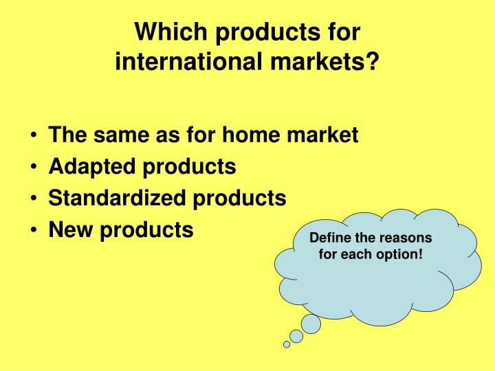 Which products for