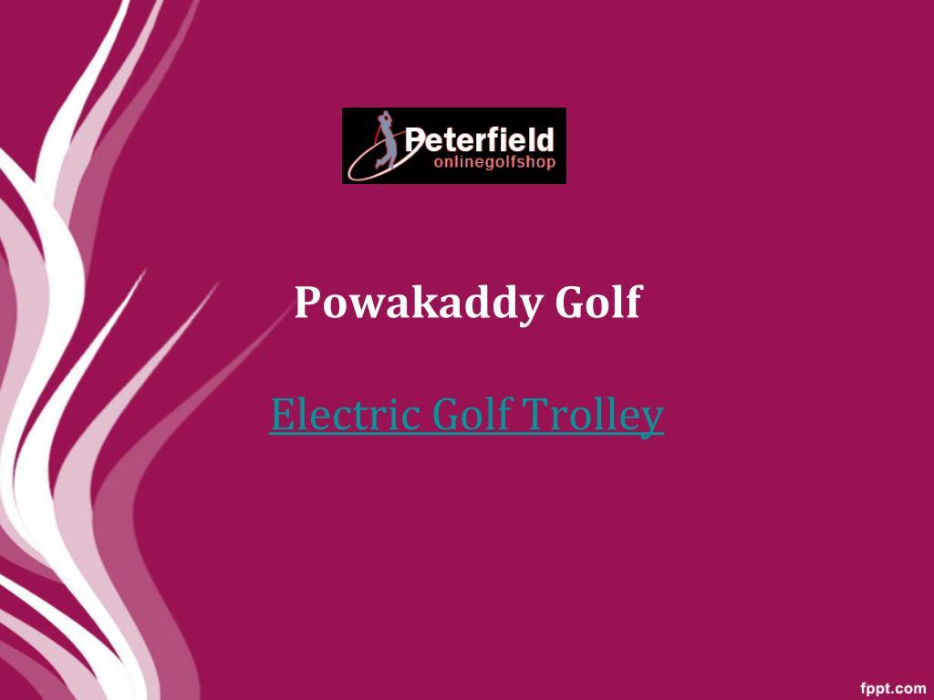 powakaddy golf electric golf trolley l.