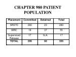 chapter 980 patient population