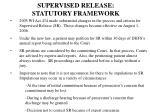 supervised release statutory framework