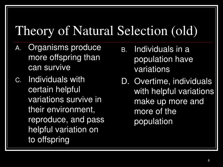 Individuals in a population have variations