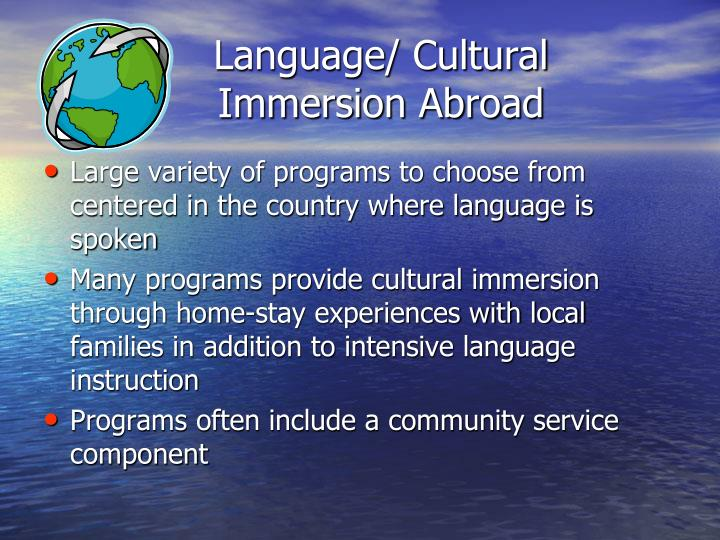 Language/ Cultural Immersion Abroad