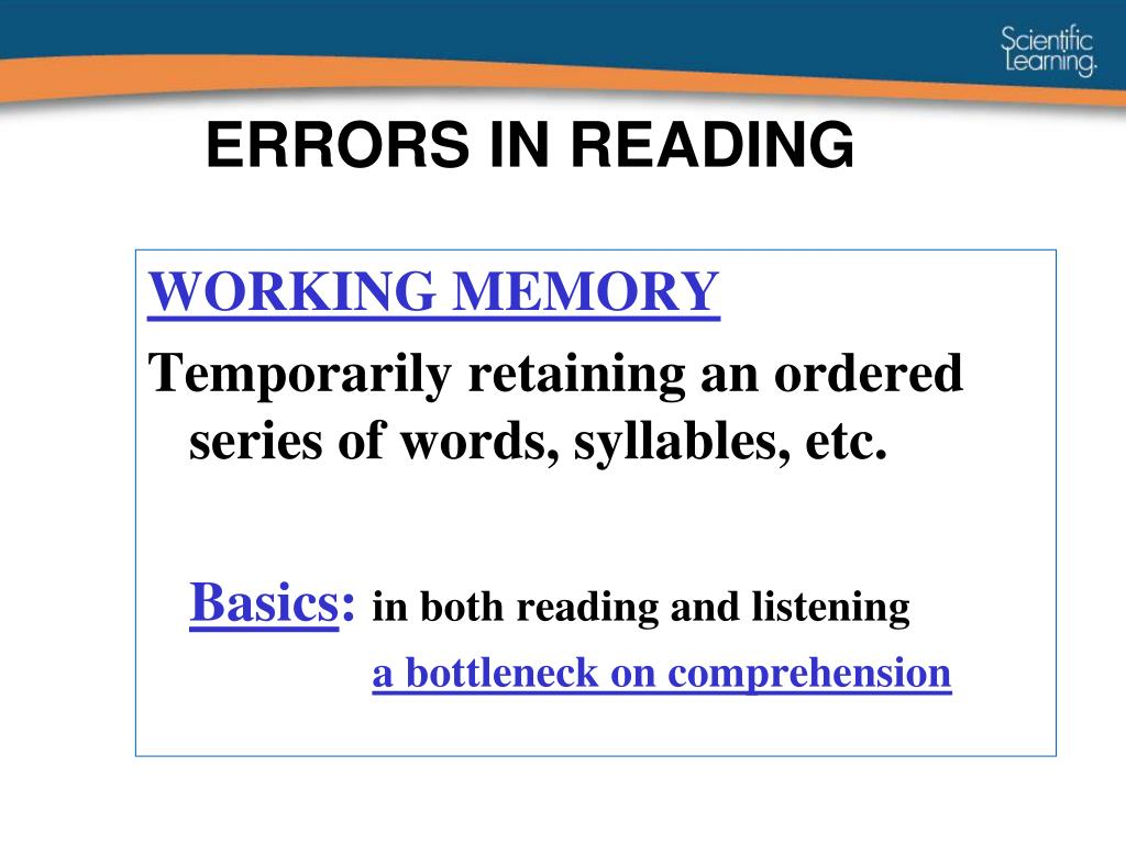 ERRORS IN READING