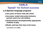 habla speak for school success