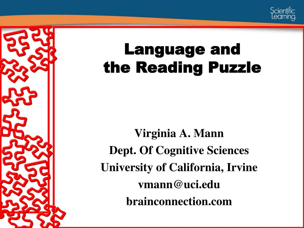 language and the reading puzzle l.