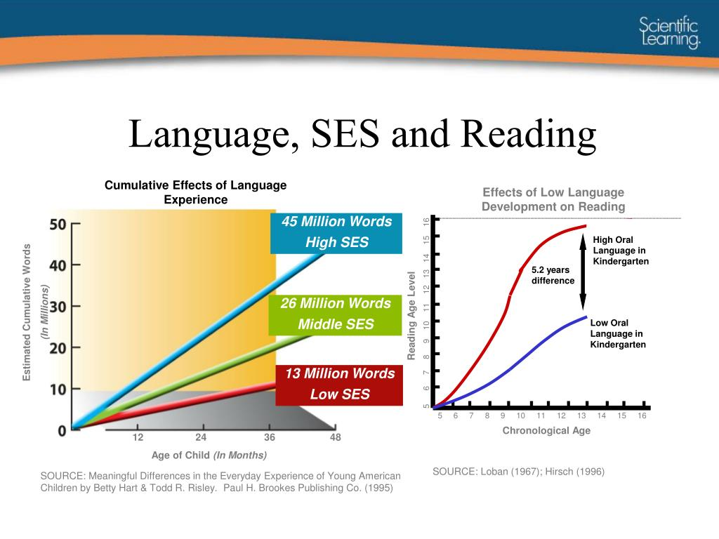 Language, SES and Reading