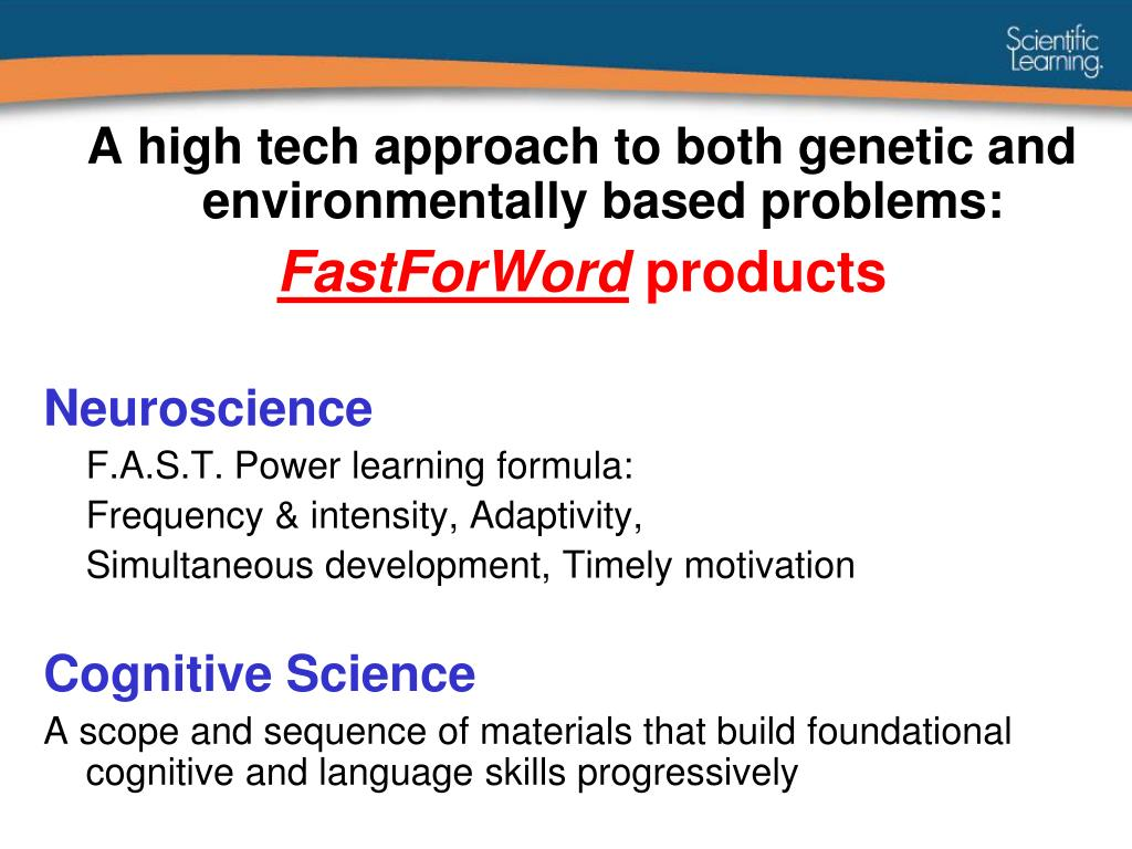 A high tech approach to both genetic and environmentally based problems: