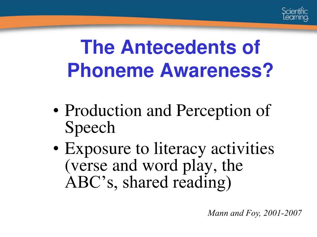 The Antecedents of