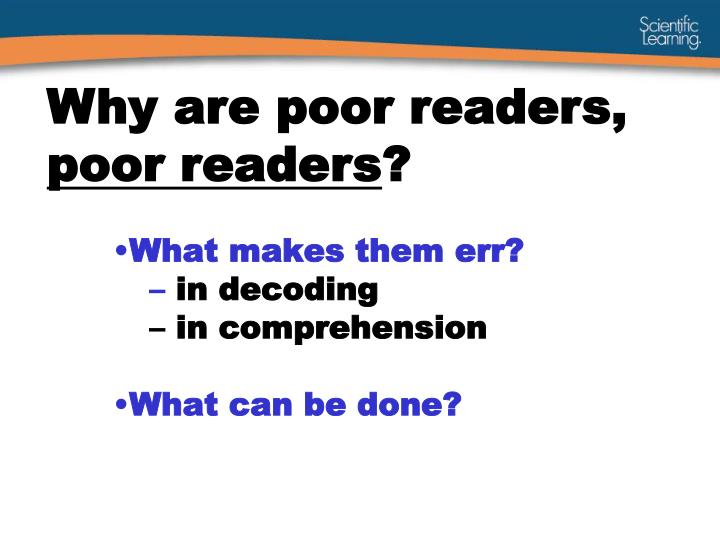 What makes them err in decoding in comprehension what can be done
