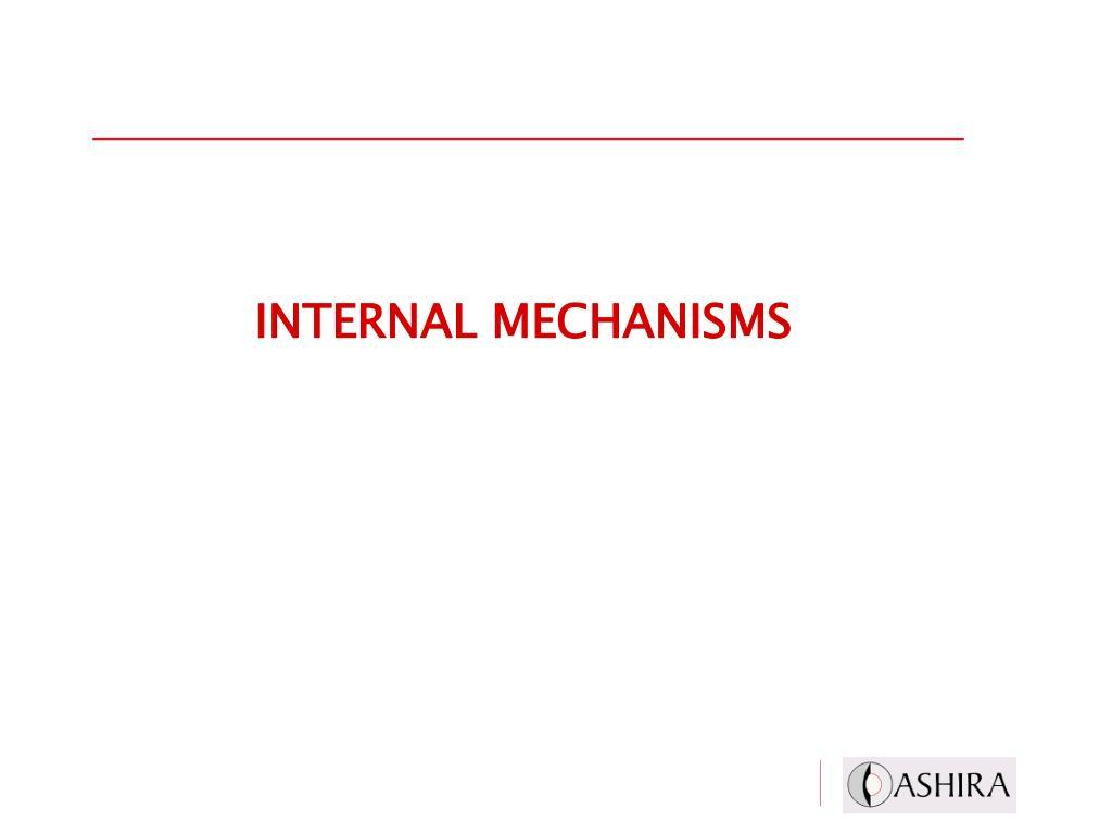INTERNAL MECHANISMS