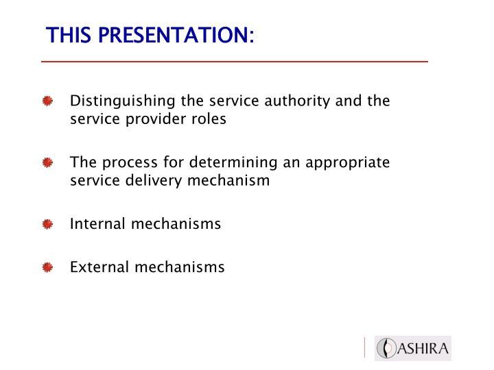 This presentation