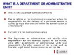 what is a department or administrative unit