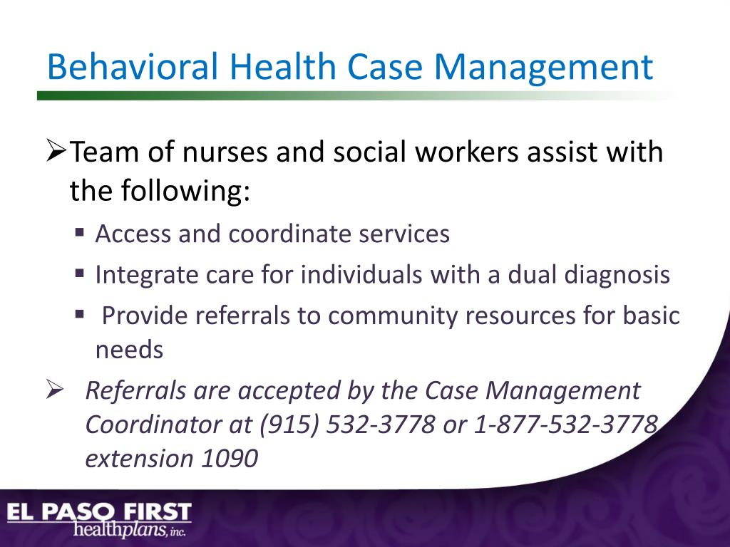 Behavioral Health Case Management
