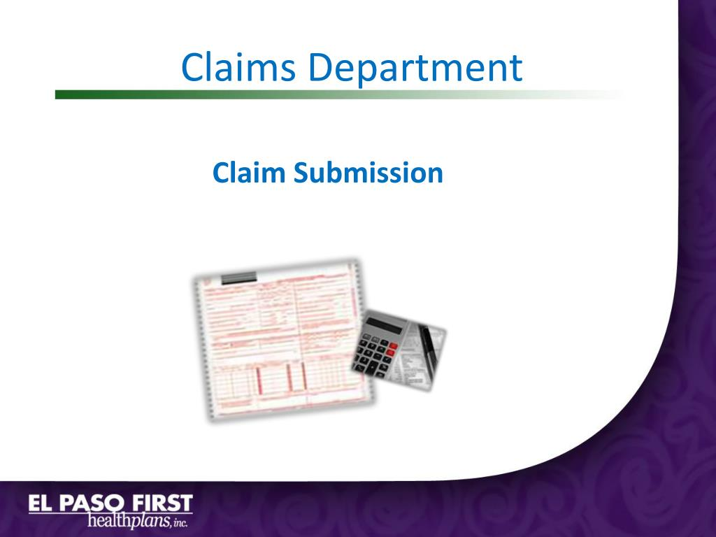 Claims Department
