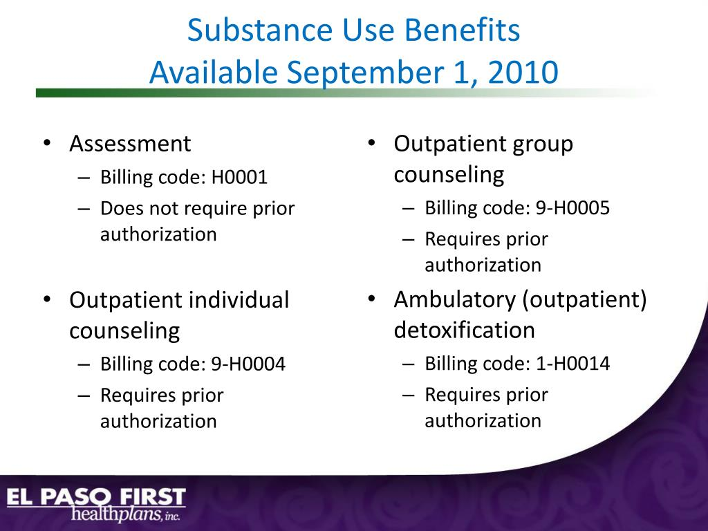 Substance Use Benefits
