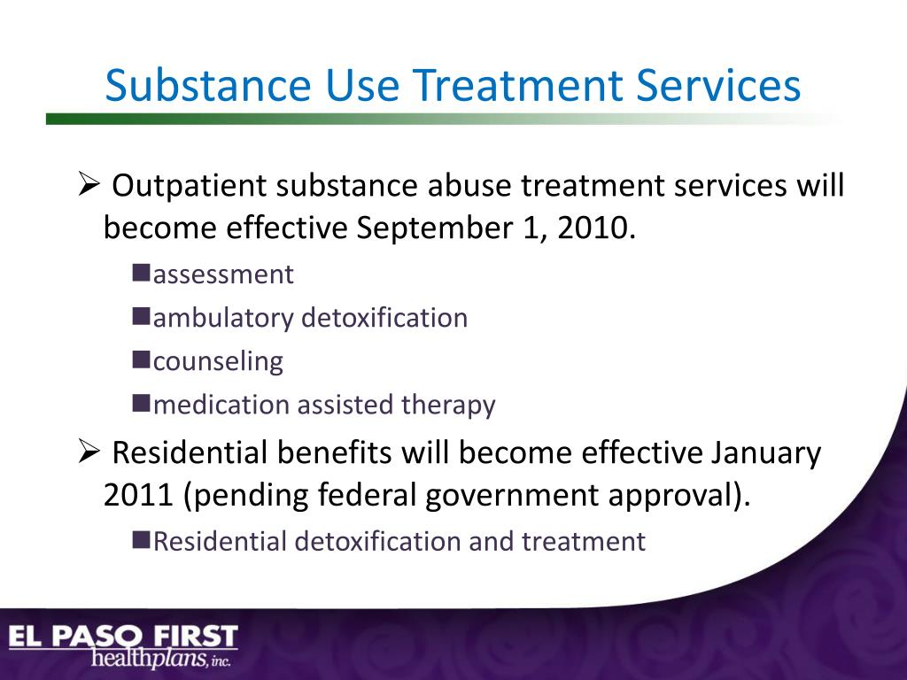 Substance Use Treatment Services