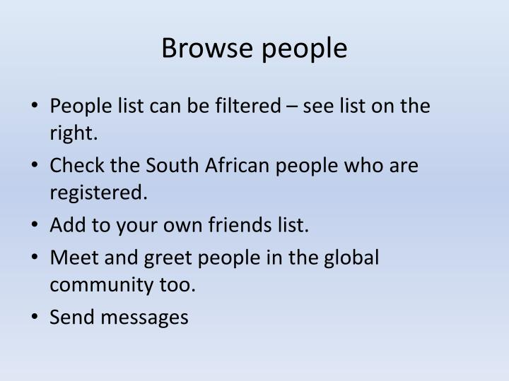 Browse people