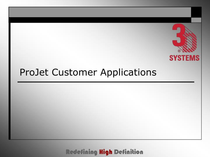 projet customer applications n.