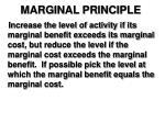 marginal principle