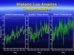 historic los angeles temperatures