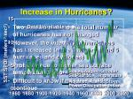 increase in hurricanes