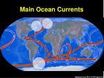 main ocean currents
