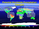 potential worldwide precipitation changes