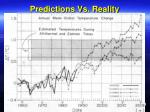 predictions vs reality