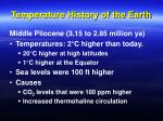 temperature history of the earth33