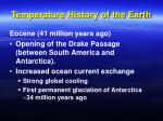 temperature history of the earth34