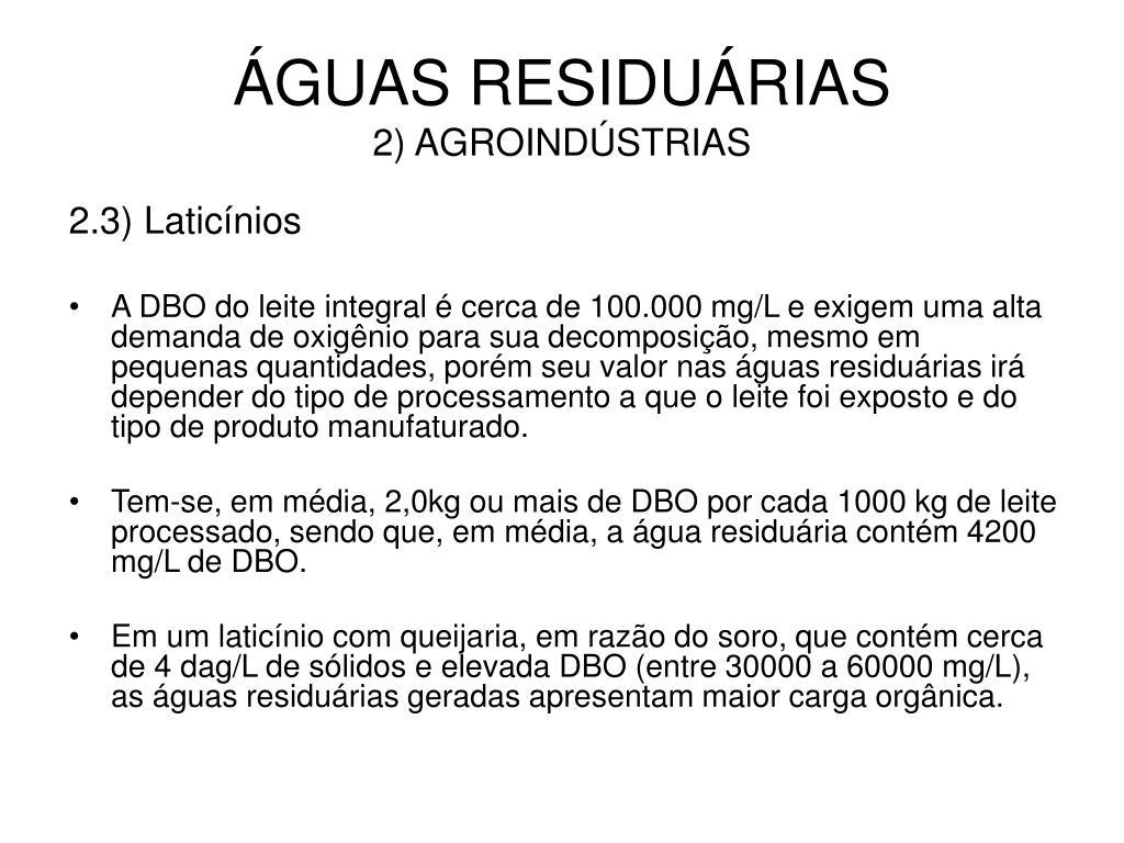 ÁGUAS RESIDUÁRIAS