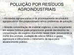polui o por res duos agroindustriais