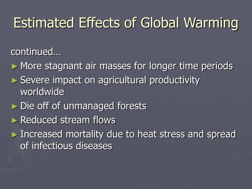 Estimated Effects of Global Warming