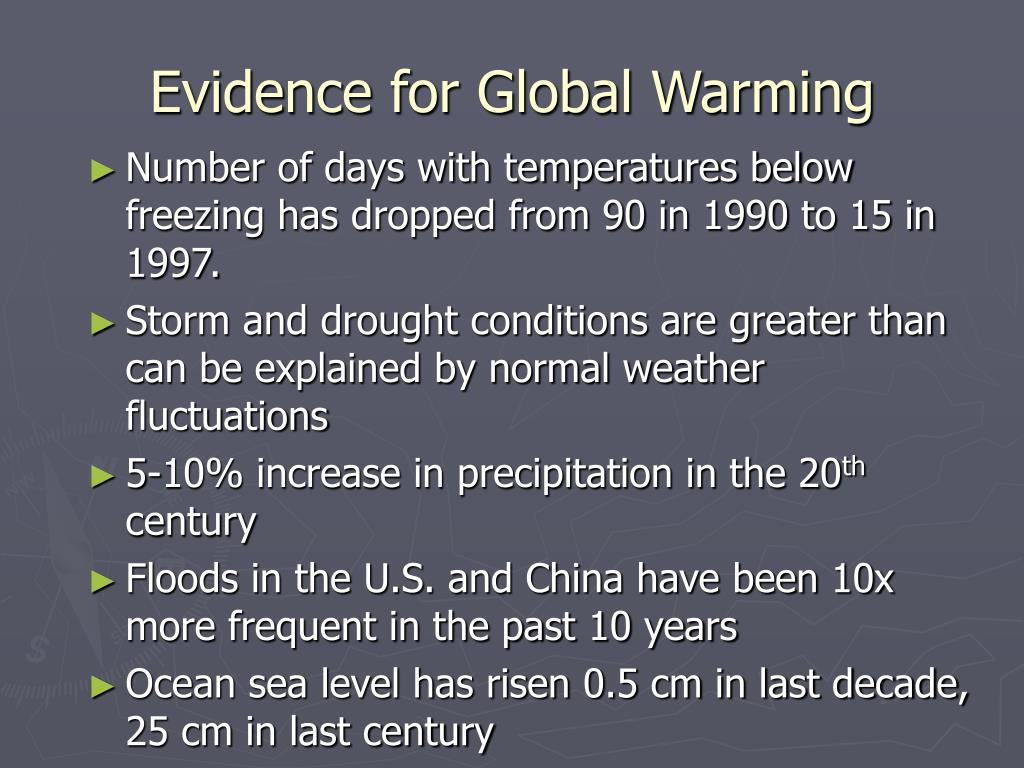 Evidence for Global Warming