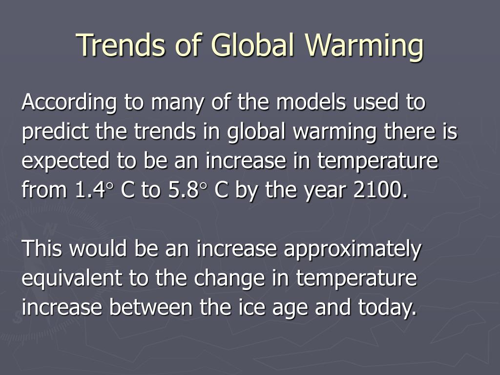 Trends of Global Warming