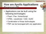 how are apollo applications composed