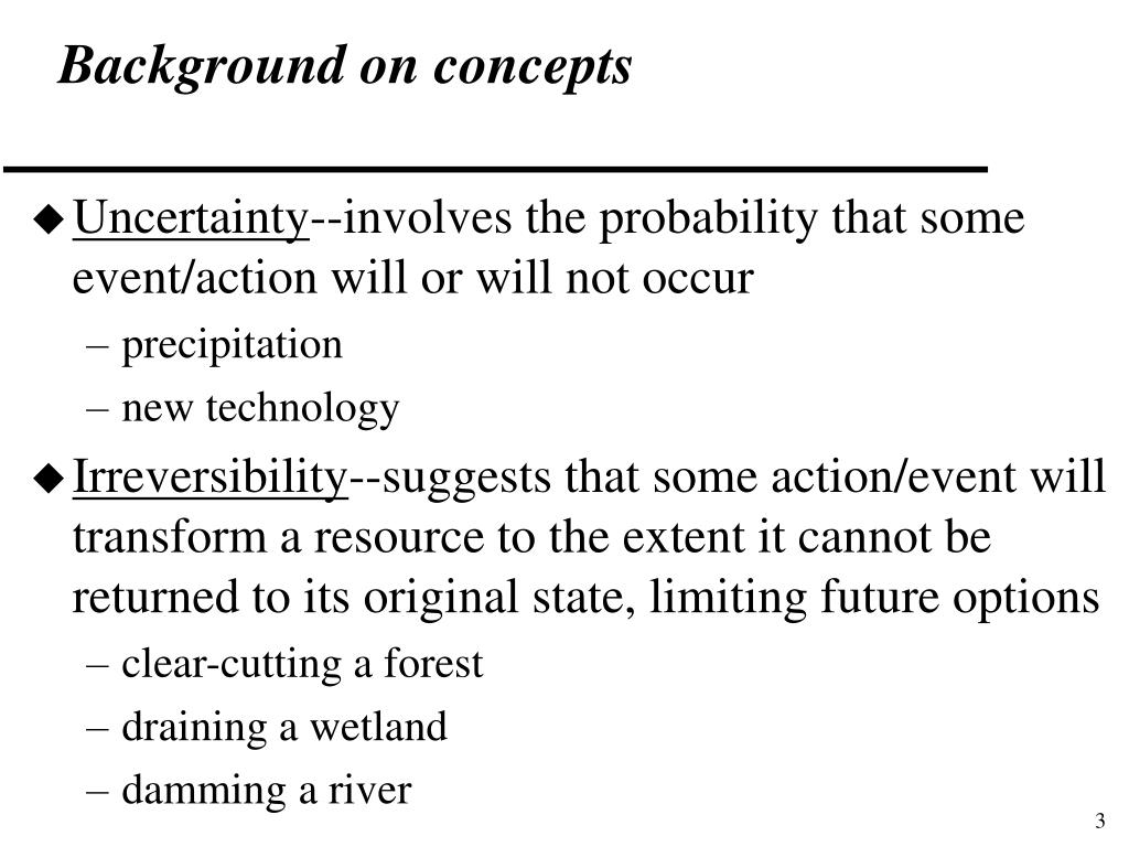 Background on concepts