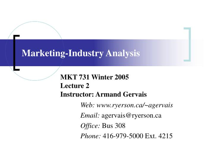 marketing industry analysis n.