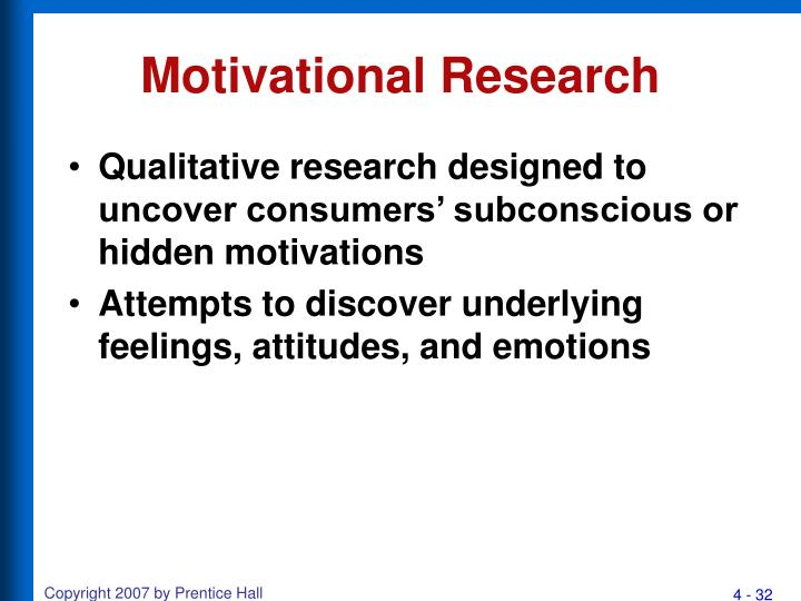Motivational Research