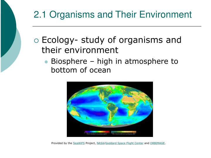 2 1 organisms and their environment