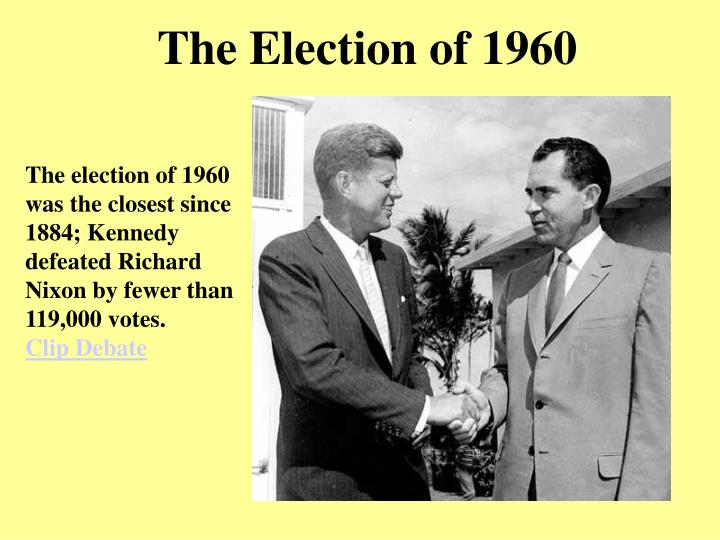 an essay on richard nixon and the election of 1960 Richard nixon 37th president of although he expected the election to be as close as in 1960 congress instructed ford to retain nixon's presidential papers.