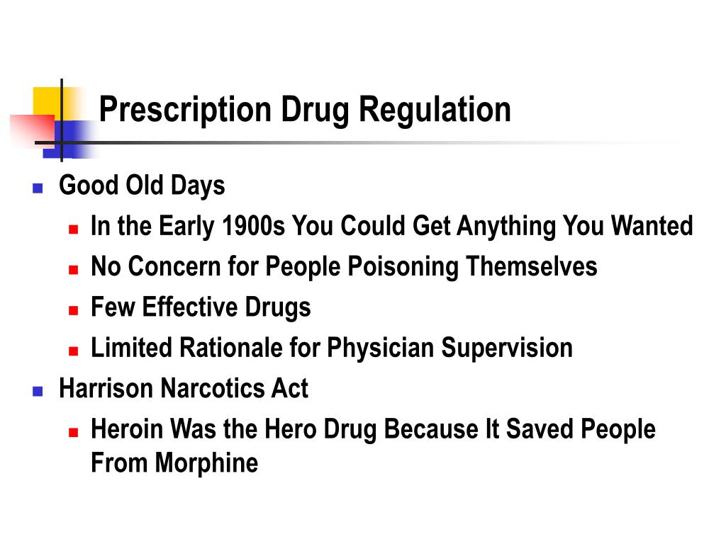 Prescription Drug Regulation