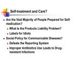 self treatment and care