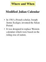 modified julian calendar