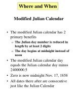 modified julian calendar7